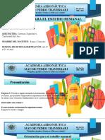 Agenda de Estudio Semanal Sistemas de Seguridad y Confortabilidad 3ero A