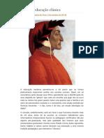 O que é educação clássica – Rafael Falcón