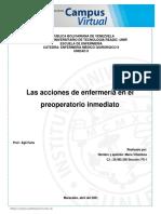 Enfermería Médico Quirúrgico Las acciones de enfermería en el pre-operatorio María Villalobos 30.465.350