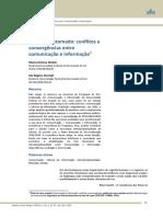 0 debate retomado conflitos e convergências entre comunicação e informação