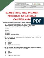 BIMESTRAL DE ESPAÑOL
