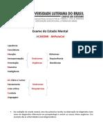 EXAME DO ESTADO MENTAL CASOMIAPEJUCOL 2020 L