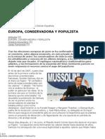Europa Conservadora y Populista