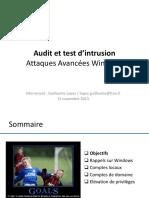 09 - AUTI - Formation - Securite - Attaques Avancées Windows