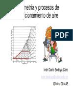 Presentación Capítulo 5 Psicrometría 2020