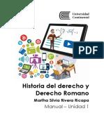 MANUA_U1_Historia Del Derecho y Derecho Romano