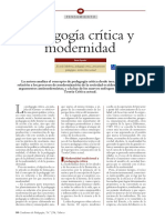 Pedagogia Critica y Modernidad. Ana Ayus