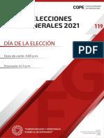 Reporte del JNE sobre Elecciones Generales 2021