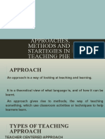 Approaches, methods and startegies in teaching phe