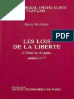 Audouin, Raoul - Les Lois de La Liberté