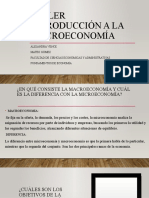 Taller introducción a la macroeconomía