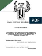 derecho procesal II - entregable 1