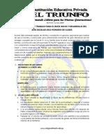 1°A-LINEAMIENTOS Y HORARIOS DE CLASE 2021