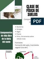 CLASE DE FISICA DE SUELOS
