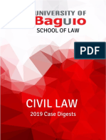 Civil Law 2019 Case Digests