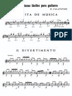 Calatayud, Bartolomé - Tres piezas faciles para guitarra