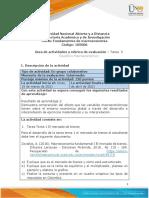 3. Guía de actividades y rúbrica de evaluación – Tarea  3 Equilibrio Macroeconómico