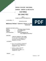 PROYECTO COCYTEC - 2007  COMPUTACION- JENY JUDITH CHILON CARRASCO