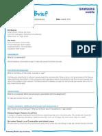 Samsung Mobile - Sample Creative Brief