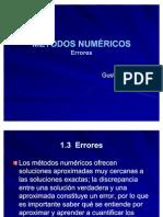 Errores metodos numericos