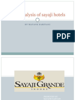 Swot analysis of sayaji hotels