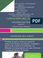 ATENCIN DEL PARTO- Dra. KAREN DENISSE LOPEZ O.