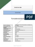 Zentralrichtlinie A2 221 0-0-1280 Formaldienstordnung