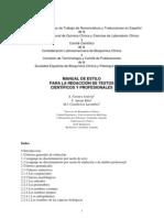 manual de estilo para la redaccion de textos cientificos y profesionales