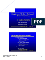 Complementi di Reti e Sistemi diTelecomunicazioni