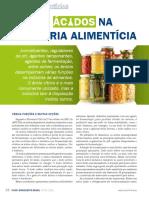 Acidos na industria alimenticia