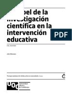 Papel Investigacion Cientifica Intervencion Educativa