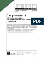 CPS 25 - l'évolution des espèces, des hommes de toutes les couleurs, la génétique