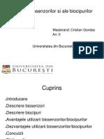 Gondac Cristian-S1- Rolurile biosenzorilor si ale biocipurilor-Fiz med II