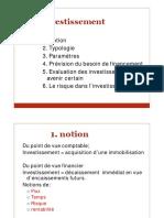 2 GF NOTION ET PARAMETRES DE L INVESTISSEMENT