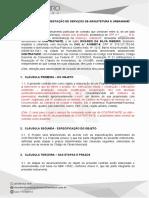 Contrato de Prestação de Serviços de Arquitetura e Urbanismo - Completo