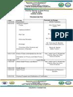 Training Matrix for Data Privacy Seminar
