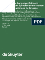 History of the Language Sciences an International Handbook on Evolution of the Study of Language From the Beginnings to the Present VOL 03