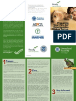 Preparedness information for pet owners
