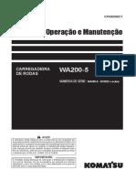 Wa200-5 Operação e Manutenção - Serie b10922 Acima