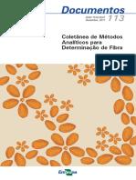 Coletânea de Métodos Para Determinação de Fibras