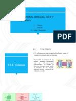 Volumen, Densidad y Temperatura Química