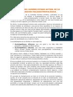 EL ORIGEN DEL HOMBRE ESTADO ACTUAL DE LA INVESTIGACIÓN PALEOANTROPOLÓGICA