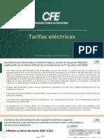CPM CFE tarifas eléctricas, 12abr21