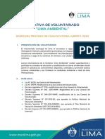 Bases  - Voluntariado Lima Ambiental Agosto 2020