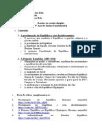 Roteiro de estudo dirigido - 1º Período - 9º ano Ensino Fundamental (2021)