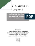 Gesell-Leseprobe 6 - Inflation, Deflation und stabile Währung