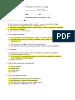 Prueba de Diagnostico Tecnologia 8 Basico