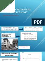 CRITERIOS DE ESTRUCTURACIÓN- QUISPE HUARACCALLO JUAN