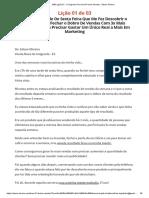 [MP] Lição 01 - O Segredo Para Você Fechar Vendas - Edson Oliveira