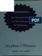 Semantics- An Introduction to the Science of Meaning